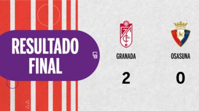 Granada le ganó con claridad a Osasuna por 2 a 0