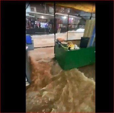 Temporal causa destrozos en Ciudad del Este