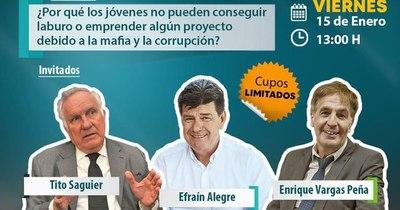 La Nación / En compañía de Vargas Peña, Alegre hablará de corrupción teniendo causa pendiente