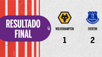 Por una mínima ventaja Everton se lleva los tres puntos ante Wolverhampton