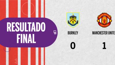 Por la mínima diferencia, Manchester United se quedó con la victoria ante Burnley en el estadio Turf Moor
