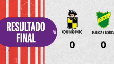 Coquimbo Unido y Defensa y Justicia terminaron sin goles