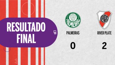 River Plate derrotó a Palmeiras 2 a 0