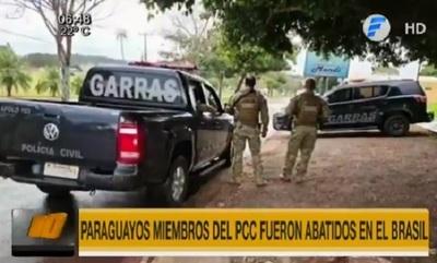 Miembros del PCC abatidos son paraguayos, reportan