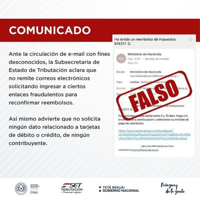 Advierten sobre esquema de estafa a través de correos fraudulentos