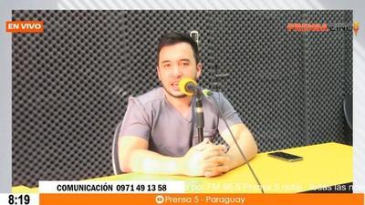 En el transcurso de esta mañana nos acompañó en la radio el Dr. Denis Cohene pre-candidato a Concejal Municipal de Coronel Oviedo.(Jóvenes al Poder) – Prensa 5