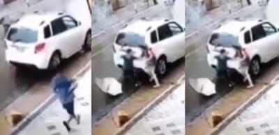 Crónica / (VIDEO) Intentaron asaltar a una jueza al salir del cajero