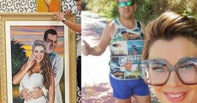 """La Nación / Si hay glamour, que no se note: Rodolfo y Marly """"regalan"""" y presumen de sus retratos"""