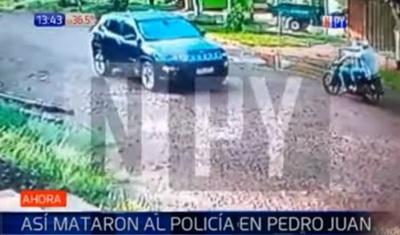 Revelan imágenes de ataque de sicarios a policía