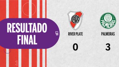 Palmeiras vapuleó a River Plate en su propia casa con un 3 a 0
