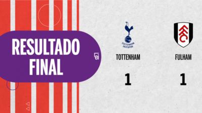 Reparto de puntos en el empate a uno entre Tottenham y Fulham