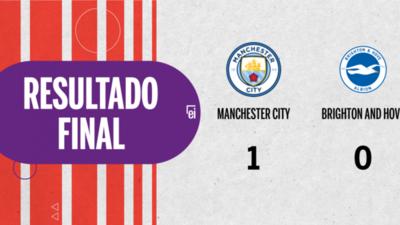 Con un solo tanto, Manchester City derrotó a Brighton and Hove en el estadio Etihad Stadium