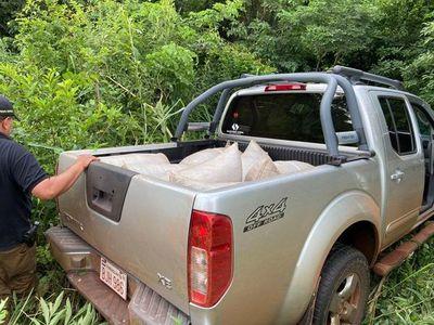 Senad incauta camioneta repleta de marihuana en Amambay