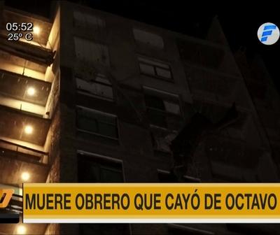 Obrero muere tras caer del octavo piso