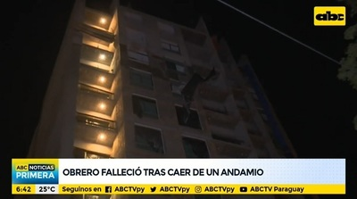 Obrero muere tras caer de andamio desde el octavo piso