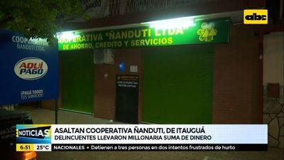 Asaltan cooperativa Ñanduti, de Itauguá