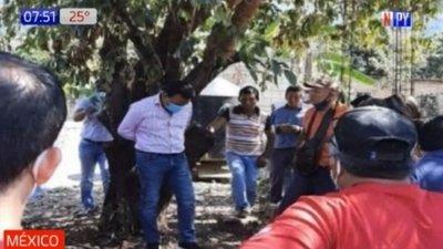 México: Atan a intendente a árbol por incumplimiento de promesas