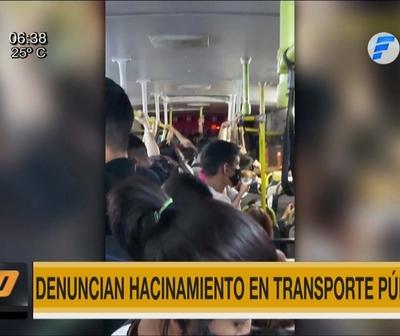 Denuncian hacinamiento en buses en medio de la pandemia