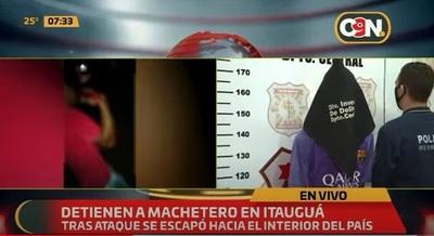Detienen a sospechoso de atacar con machete a su vecino en Itauguá