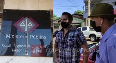 VECINOS DE SAN LUIS DEL PNÁ SE MANIFESTARON FRENTE A LA FISCALÍA DE ENCARNACIÓN