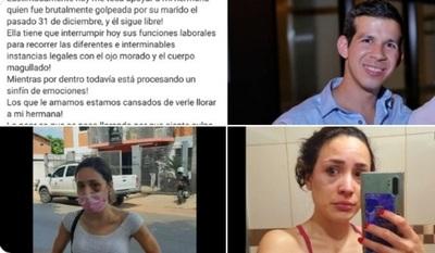 Mujer denuncia que fue salvajemente golpeada por su pareja y ahora ella es la denunciada