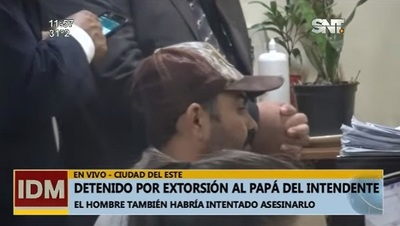 Detienen a sospechoso de ataque y extorsión a padre del intendente de CDE