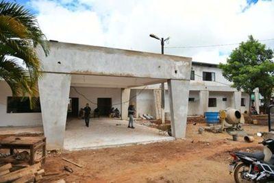 Ampliación del hospital de Minga Guazú presenta un 90% de avance