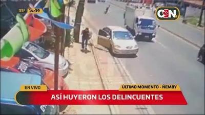 Violento asalto frustrado en Ñemby