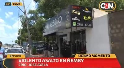 Intento de asalto con toma de rehén deja tres heridos en Ñemby
