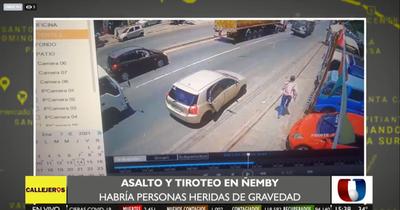 Dos violentos asaltos simultáneos en Ñemby