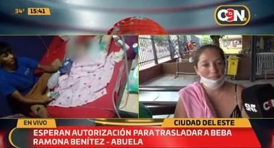Beba de cinco meses necesita traslado urgente al Acosta Ñu