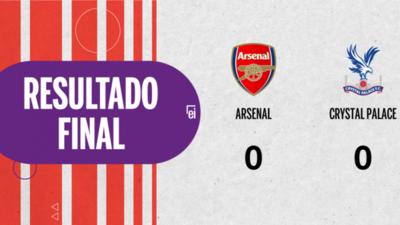 Sin goles, Arsenal y Crystal Palace igualaron el partido