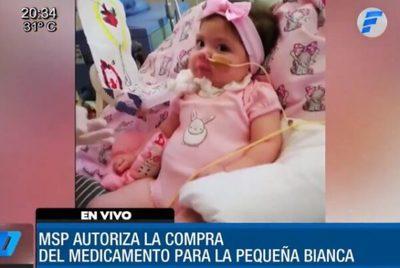 Salud libera fondos para comprar medicamento para Bianca