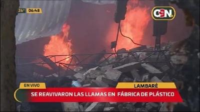 Lambaré: Así quedó la fábrica incendiada