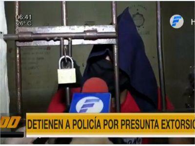 Policía es detenido por intento de extorsión en Asunción