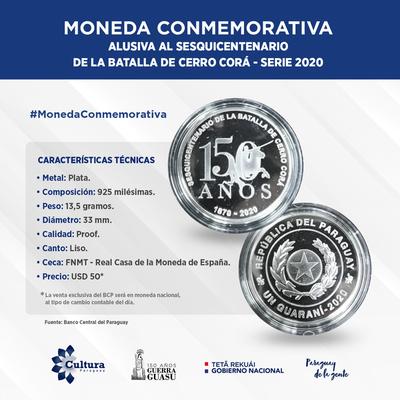 BCP lanza moneda conmemorativa por Sesquicentenario de la Batalla de Cerro Corá
