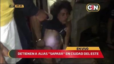 """Ciudad del Este: Detienen a alias """"Sapará"""""""