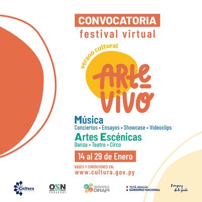 Convocan a artistas al Festival Virtual Arte Vivo Verano Cultural