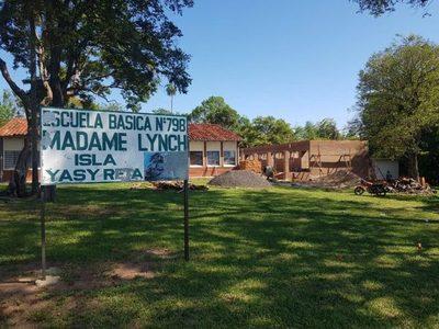 Construyen aulas en la Isla Yacyretá con apoyo de la EBY