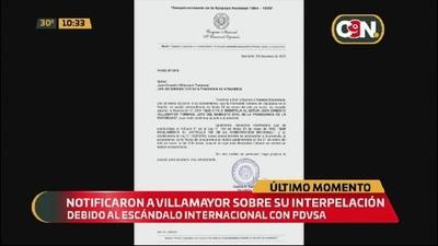 Juan Ernesto Villamayor ya fue notificado sobre su Interpelación