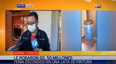 Roban G. 50 millones escondidos en un tambor de pintura