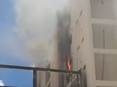 Vicepresidencia registra principio de incendio en un piso