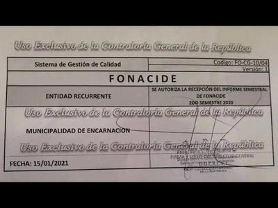 MUNICIPIO ENCARNACENO PRESENTA INFORME DE ROYALTIES Y FONACIDE A CONTRALORIA