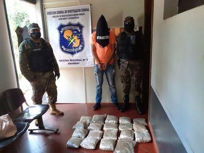 """Menor detenido con casi 10 kilos de marihuana tipo """"skank"""" en Pedro Juan Caballero"""