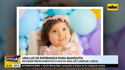 Bianca recibirá su medicamento a días de cumplir sus dos años