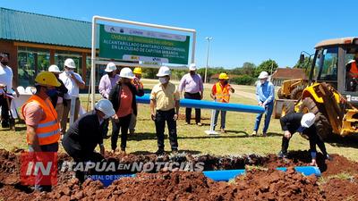 INICIA CONSTRUCCIÓN DE ALCANTARILLADO SANITARIO EN CAP. MIRANDA