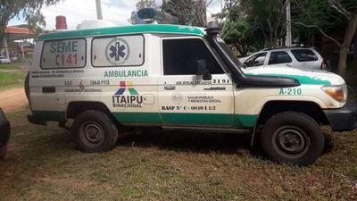 Ambulancia de Zanja Pytá involucrada en mortal accidente en Azotey