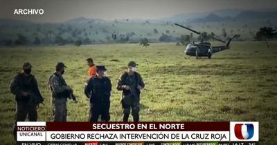 Secuestro en el Norte: Gobierno ratifica que no aceptará mediación de la Cruz Roja