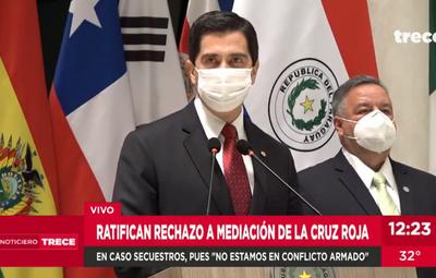 Secuestros: Gobierno afirma que no se dan condiciones para mediación de Cruz Roja