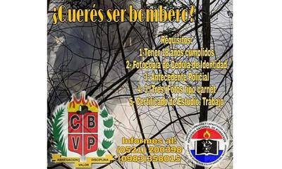 Bomberos Voluntarios Ovetenses llaman a nuevos aspirantes – Prensa 5